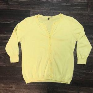 Yellow BP button down cardigan